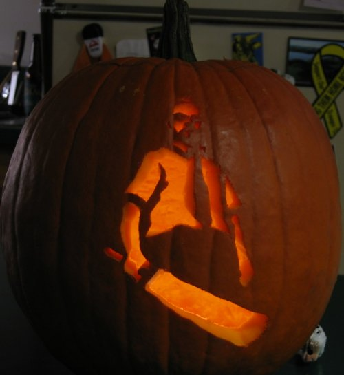 shaun of the dea pumpkin
